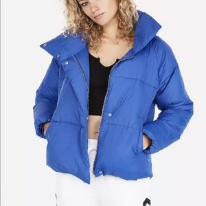 Xs  royal blue express puffer jacket